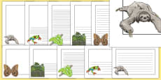 Rainforest Page Borders