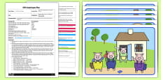 The Three Little Pigs Voice Sounds EYFS Adult Input Plan and Resource Pack