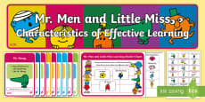 * NEW * Mr Men and Little Miss Characteristics of Effective Learning Display Pack