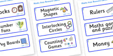 Dolphin Themed Editable Maths Area Resource Labels