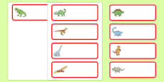 Editable Drawer - Peg - Name Labels (Dinosaurs)