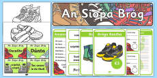 Shoe Shop Role Play Pack Gaeilge