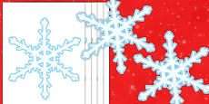 Editable Display Snowflakes (A4)