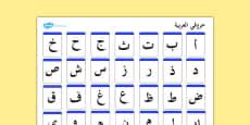 Alphabet Mat Arabic