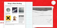 Design a Moon Dwelling Activity Sheet
