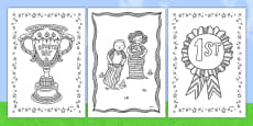 Sports Day Themed Mindfulness Colouring Sheets