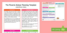 The Pizzaria Aistear Planning Template