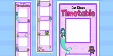 Fantasy Themed Vertical Visual Timetable Display