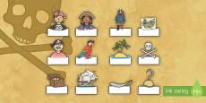 Auto registro: Los piratas - editable