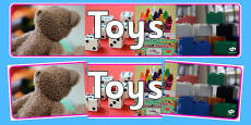Toys Photo Display Banner
