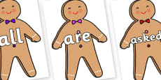 Tricky Words on Gingerbread Man
