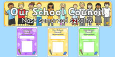 School Council Notice Board Pack Polish Translation