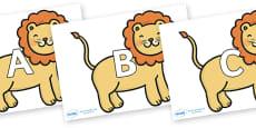 A-Z Alphabet on Lions
