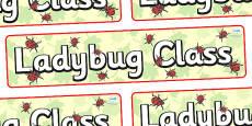 Ladybug Themed Classroom Display Banner