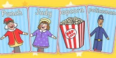 Punch and Judy Display Posters