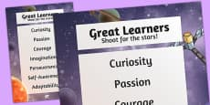 Great Learners Poster