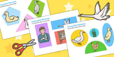 The Ugly Duckling Themed Cutting Skills Activity Sheet