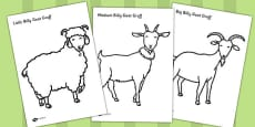 The Three Billy Goats Gruff Colouring Sheets