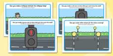 Road Safety Playdough Mats Romanian Translation