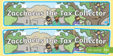 Zacchaeus the Tax Collector Bible Story Display Banner