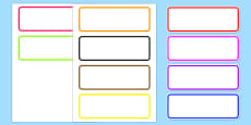 Editable Drawer Peg Name Labels