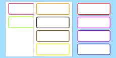 Editable Drawer Peg Name Labels