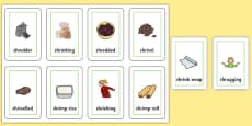 Two Syllable SHR Flash Cards