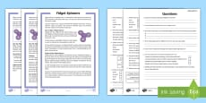 KS2 Fidget Spinners Differentiated Reading Comprehension Activity