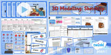 PlanIt - Computing Year 5 - 3D Modelling SketchUp Unit Pack