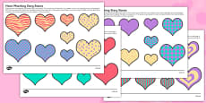 Hearts Size And Pattern Matching Story Stone Image Cut-Outs