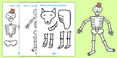 Make a Moving Skeleton Pack to Support Teaching on Funnybones