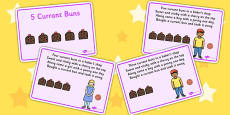5 Currant Buns Story Sequencing Cards