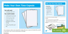 Today's Time Capsule Step-by-Step Instructions
