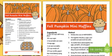 Fall Pumpkin Mini Muffins Recipe