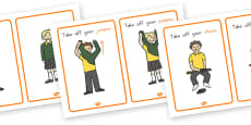 PE Changing Clothes Cards