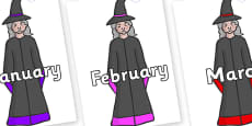 Months of the Year on Witches