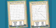 Ancient Egyptian Creation Story Differentiated Wordsearch