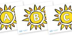 A-Z Alphabet on The Sun