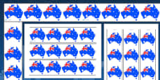 Australia Day Display Borders