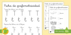 * NEW * Ficha de grafomotricidad: La letra T