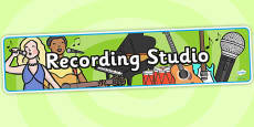 Recording Studio Role Play Banner