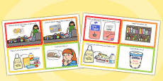Supermarket Role Play Challenge Cards Arabic
