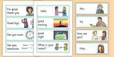 Greetings Flashcards English