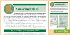 CfE Probationer Assessment Folder Poster