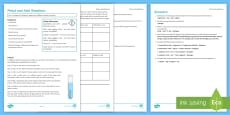 Metal and Acid Reactions Investigation Instruction Sheet Print-Out