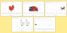 Pencil Control Sheets to Support Teaching on What the Ladybird Heard