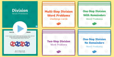 Division Word Problems Resource Pack