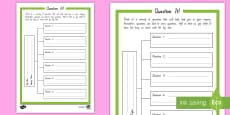 Inquiry Question it! Student Planning Activity Sheet