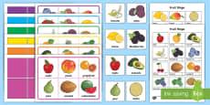 Fruit Themed Bingo