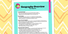 2014 Curriculum KS1 Geography Overview